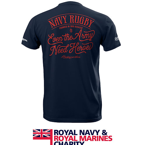 Men's Blue Navy Rugby RNRMC Charity T Shirt