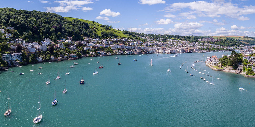 The gorgeous entrance to the River Dart and Dartmouth & Kingswear
