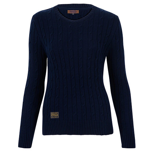 Ladies' Cable Knit Cotton Sweater