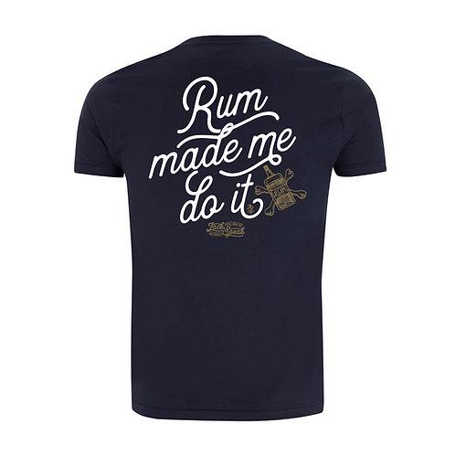 Men's Blue 'Rum Made Me Do It' T Shirt