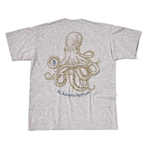Grey JackSpeak Kraken T Shirt