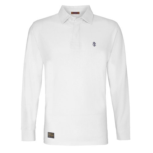 Men's White Rugby Shirt