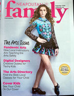 Diana's daughter on the cover of NEA Family magazine