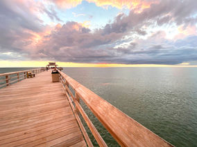 Naples pier at sunset by Diana