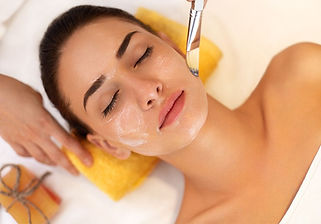 Woman getting a chemical peel in Naples, FL