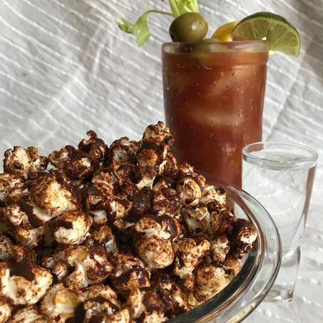 Dark Chocolate Chili Popcorn