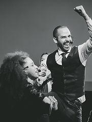 All - In , formato corto de Improvisación teatral en bogotá. Maria Paula Franky, David Moncada, Alvaro Lozano, Victor Tarazona y Felipe Correa