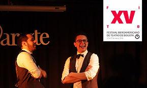 Victor Tarazona y Felipe Correa en All- In, Formato de Impro de Improvisual Project