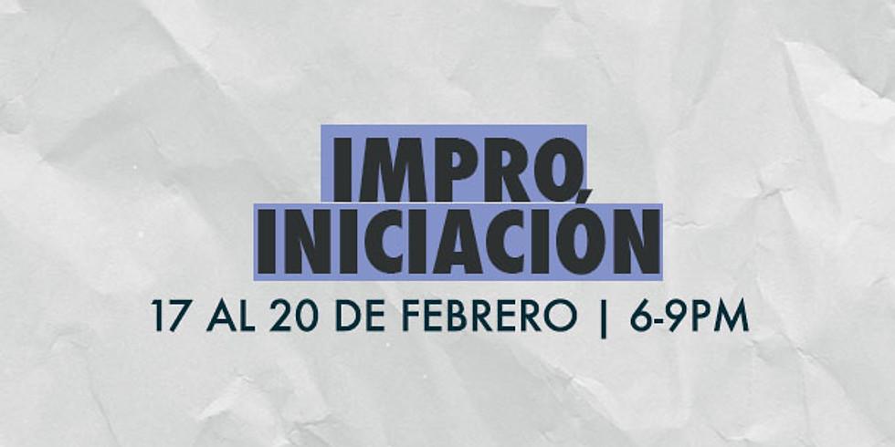 TALLER IMPRO: INICIACIÓN