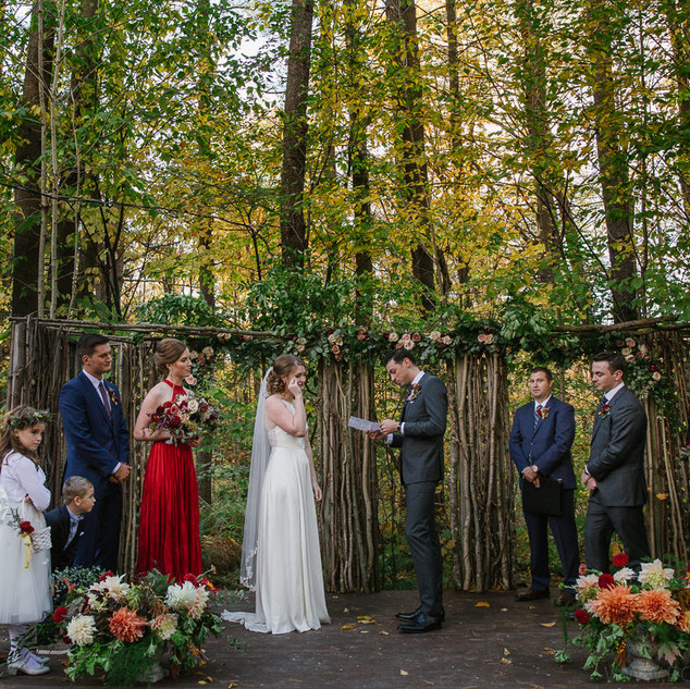 Fall wedding in outdoor chapel in the woods @iwvermont.jpg