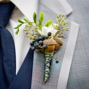 Beautiful boutonniere for winter wedding @iwvermont.jpg
