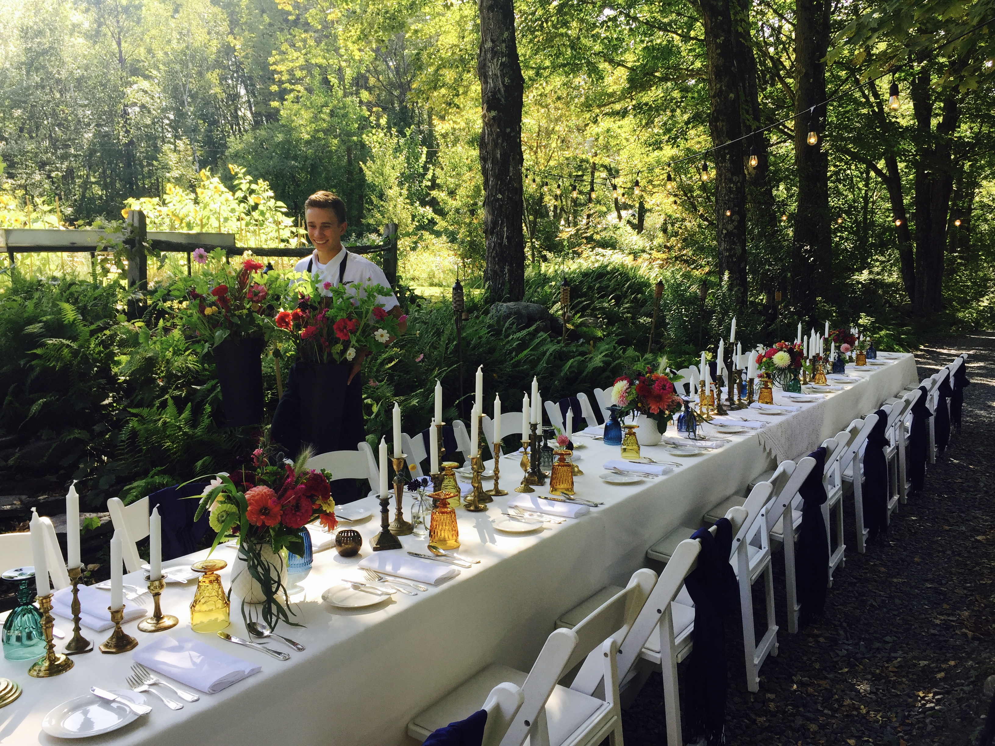 September wedding for 30 guests