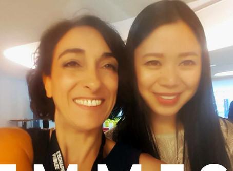 Avec Kat Borlongan, directrice de la mission French Tech