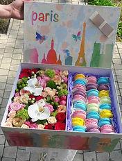 Доставка Макаруны с цветами
