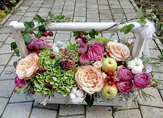 Доставка Ящики с цветами