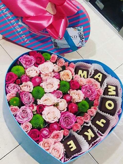 Шоколад с цветами
