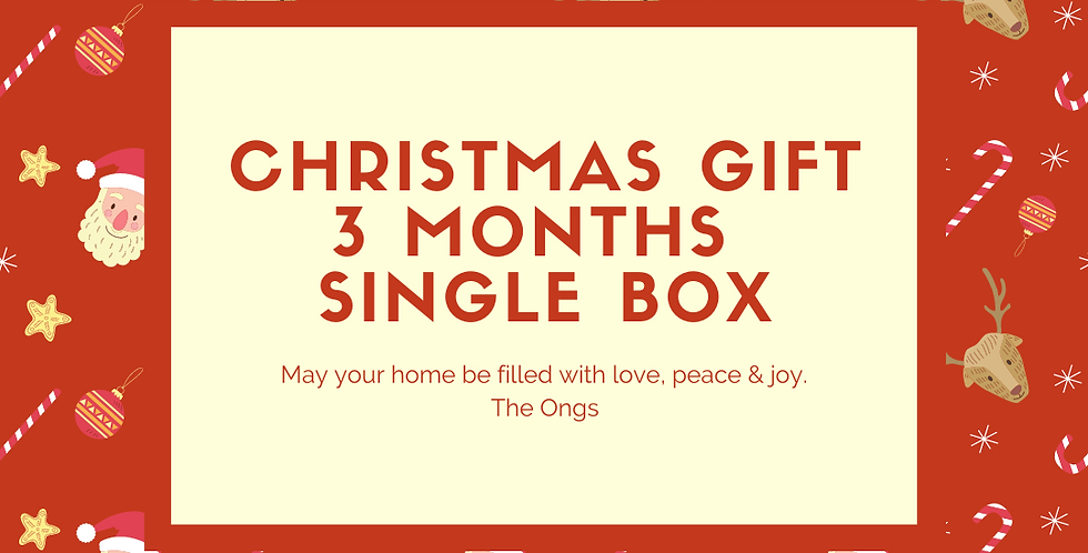 Christmas Gift 3 month single box