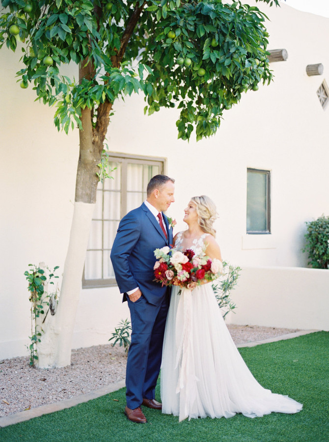 DeeAnn + Adam's Romantic Wigwam Phoenix Wedding