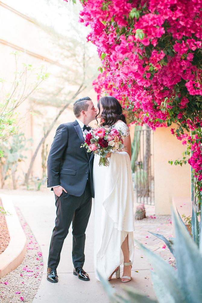 Andy + Gio's Colorful Royal Palms Resort Wedding