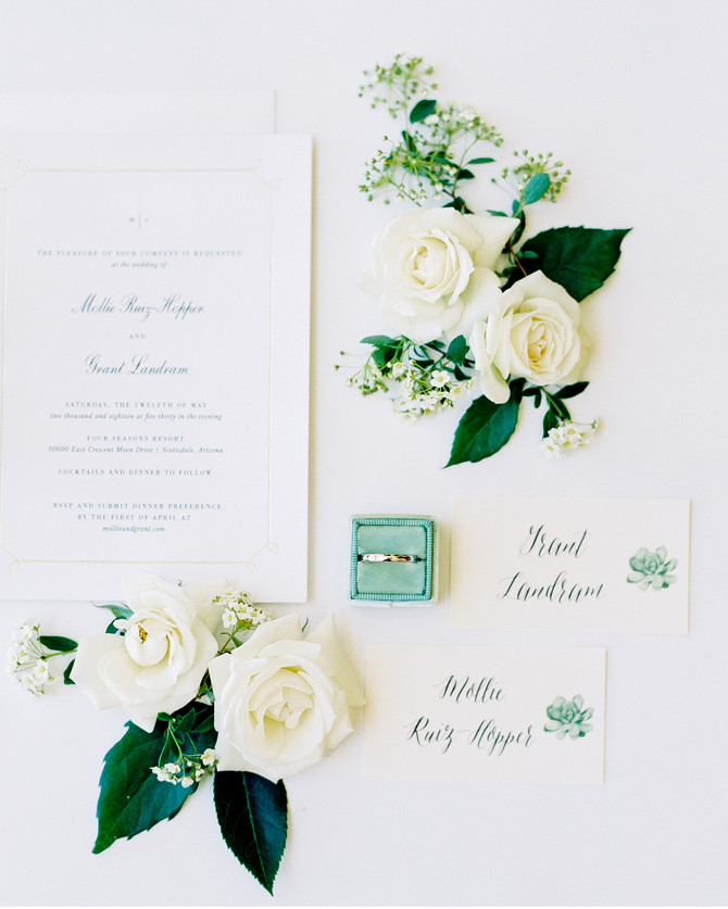 Mollie + Grant's Fresh Four Seasons Wedding