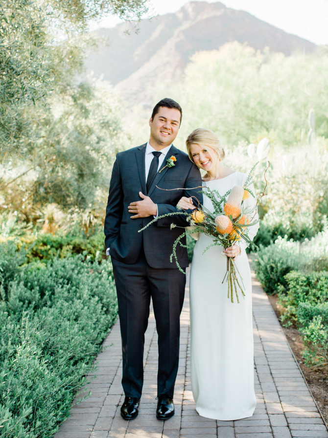 Liz + Ryan's Modern El Chorro Wedding