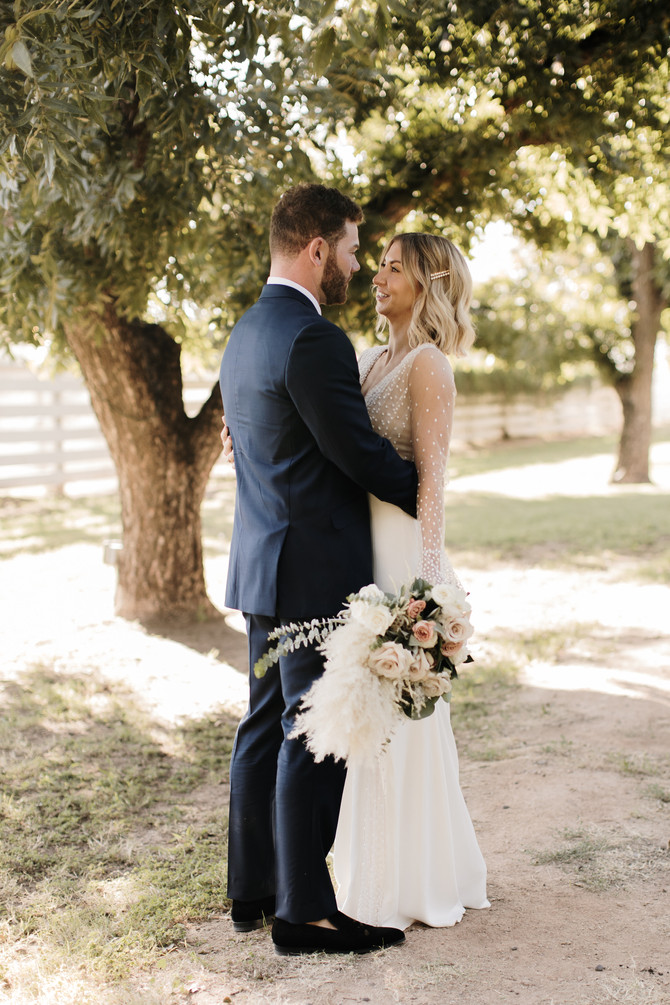 Kacey + Sam's Boho Wedding at The Farm at South Mountain