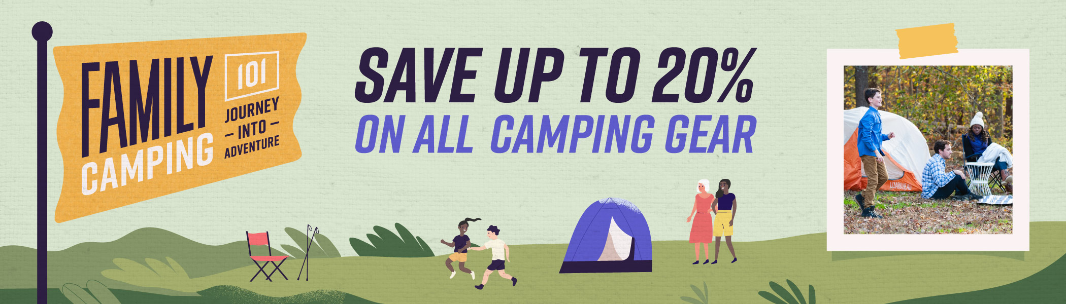 Family Camping 101 - Web Banner Graphic