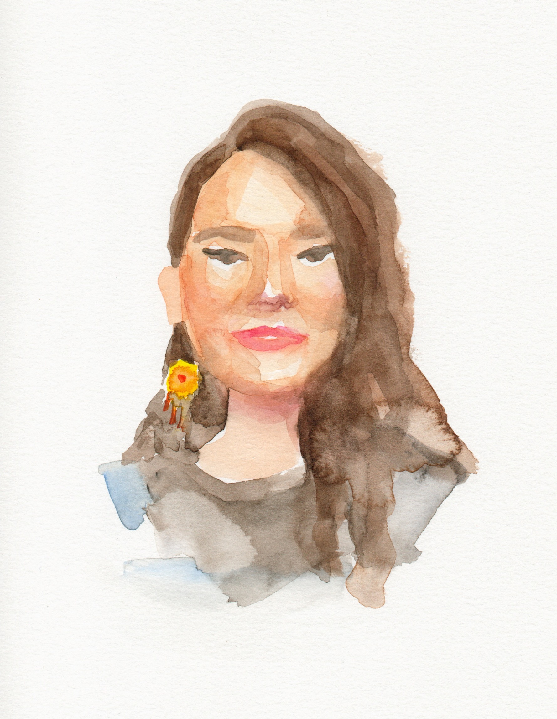 Yexenia, Watercolor (25 minutes on Insta