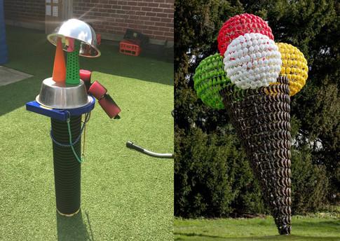 Sculpture inspired by 'Tutti Frutti' by Joana Vasconcelos