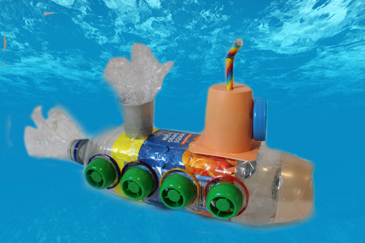 Submarine example from the Recycle, Reuse, Re-Craft activity