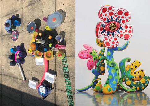 Sculpture inspired by  Yayoi Kusama's 'Flowers that Bloom'