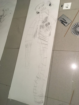 A brilliant body drawing