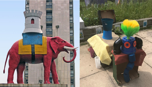 Sculpture inspired by Elephant and Castle Landmark