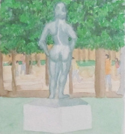 Statue in Tullieres 1 (2014)