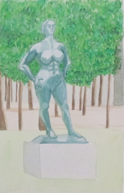 Statue in Tullieres 2 (2014)