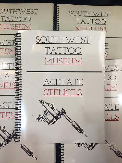 Southwest Tattoo Museum Acetate Stencils