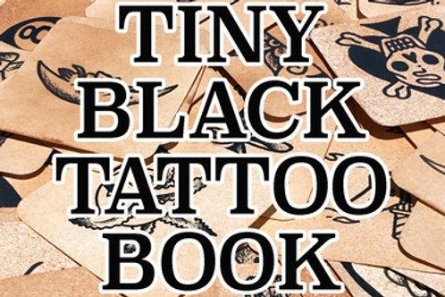 Tiny Black Tattoo Book