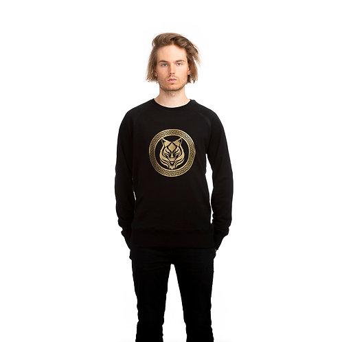 Gold logo sweater