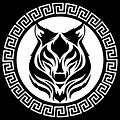 Lone wolf greek logo with white backroun