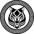 Lone wolf greek logo with white backroun