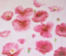 Pink Iceland poppies painting by jan mat