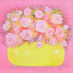 Abstract Roses Still Life
