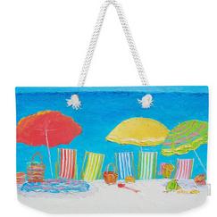 Weekender tote bag - Beach scene