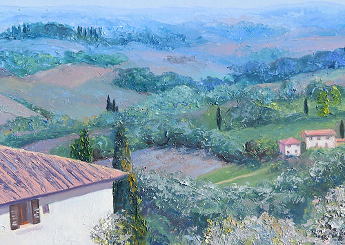 Villa in Tuscany painting by 2017 Jan ma
