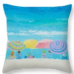 Beach Colors - Throw pillow