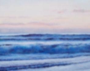 Nocturne in Blue, ocean painting by jan