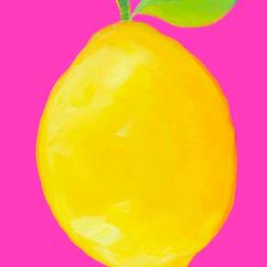 Lemon on hot pink