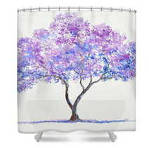 Jacaranda Tree shower curtain