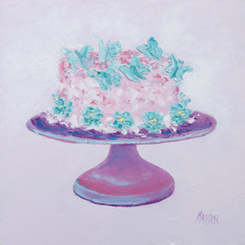 Butterfly frosted cake