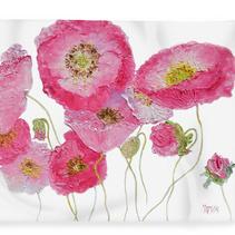 Fleece Blanket with poppy design